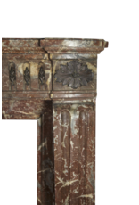 Small Belgian Vintage Fireplace Surround