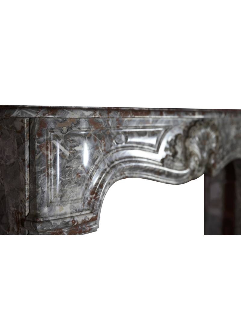 Belgian Vintage Marble Fireplace Surround
