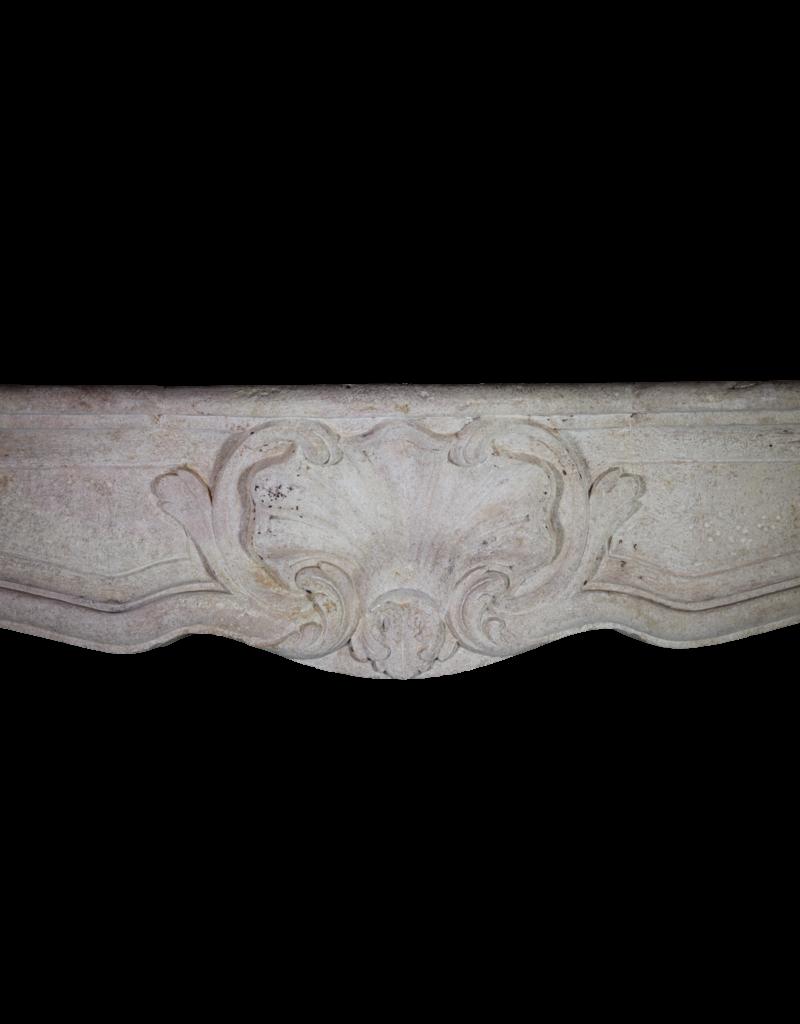 Klassische Französisch Bicolor Kalkstein Kaminmaske