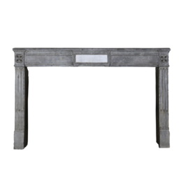 Grand French Vintage Stone Fireplace Surround