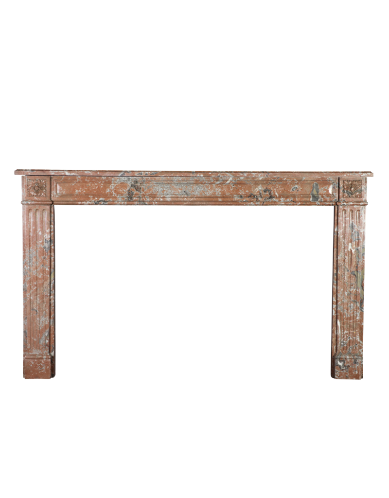Extra Wide Brown Belgian Marble Vintage Fireplace Surround