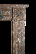 Extra Wide Brown Belgischen Marmor Jahrgang Kaminmaske