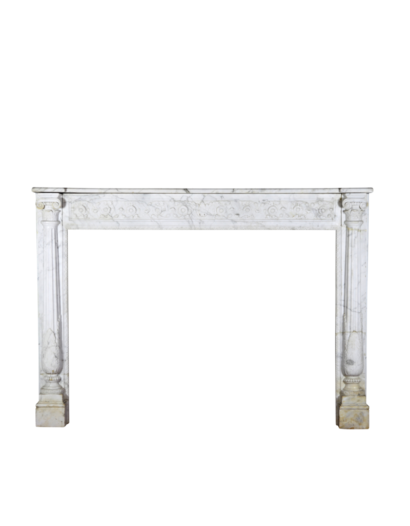 The Antique Fireplace Bank Fine Classic French Carrara Marble Fireplace Surround
