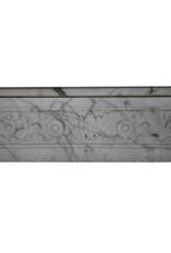 Fine Classic French Carrara Marble Fireplace Surround