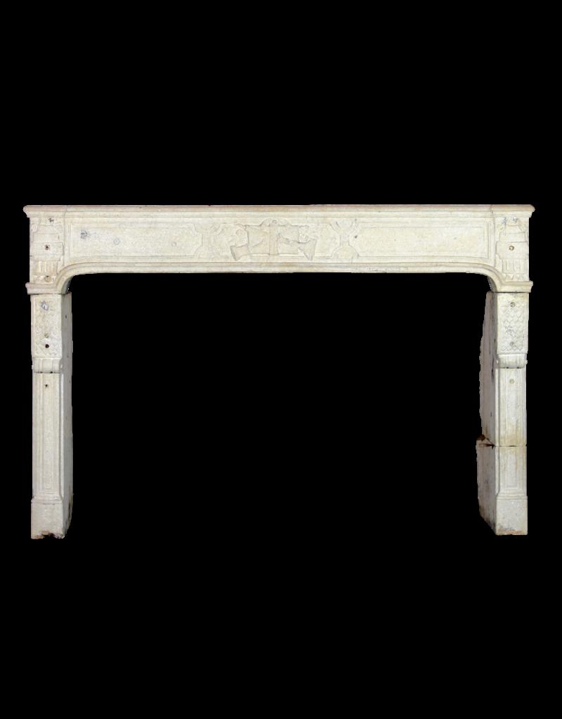 The Antique Fireplace Bank Französisch Kalkstein Directoire Stil Kaminmaske