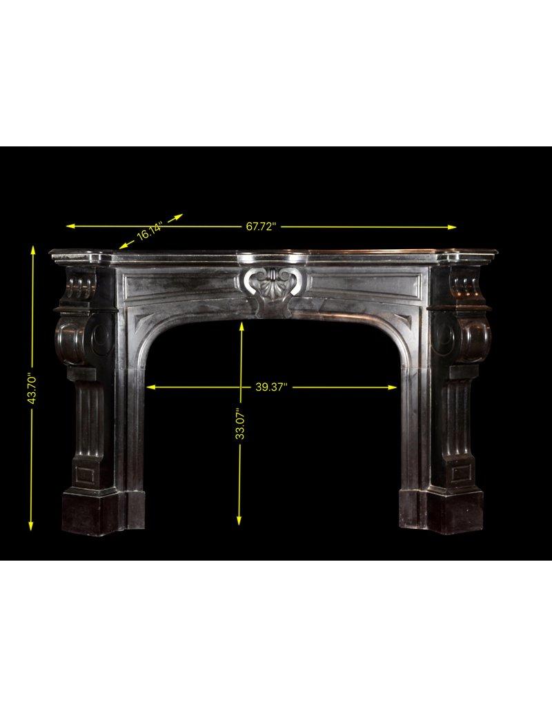 The Antique Fireplace Bank Schwarzer Belgischer Marmor Dekorativer Kaminmaske