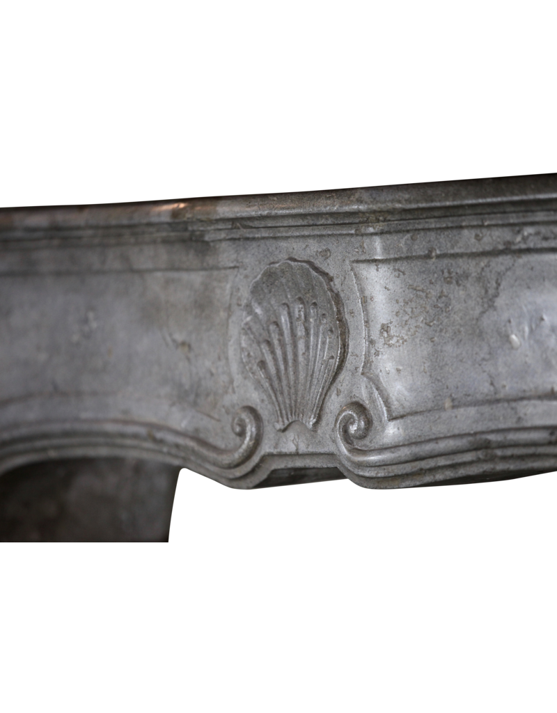 The Antique Fireplace Bank Fine Classic French Bicolor Stone Fireplace Surround