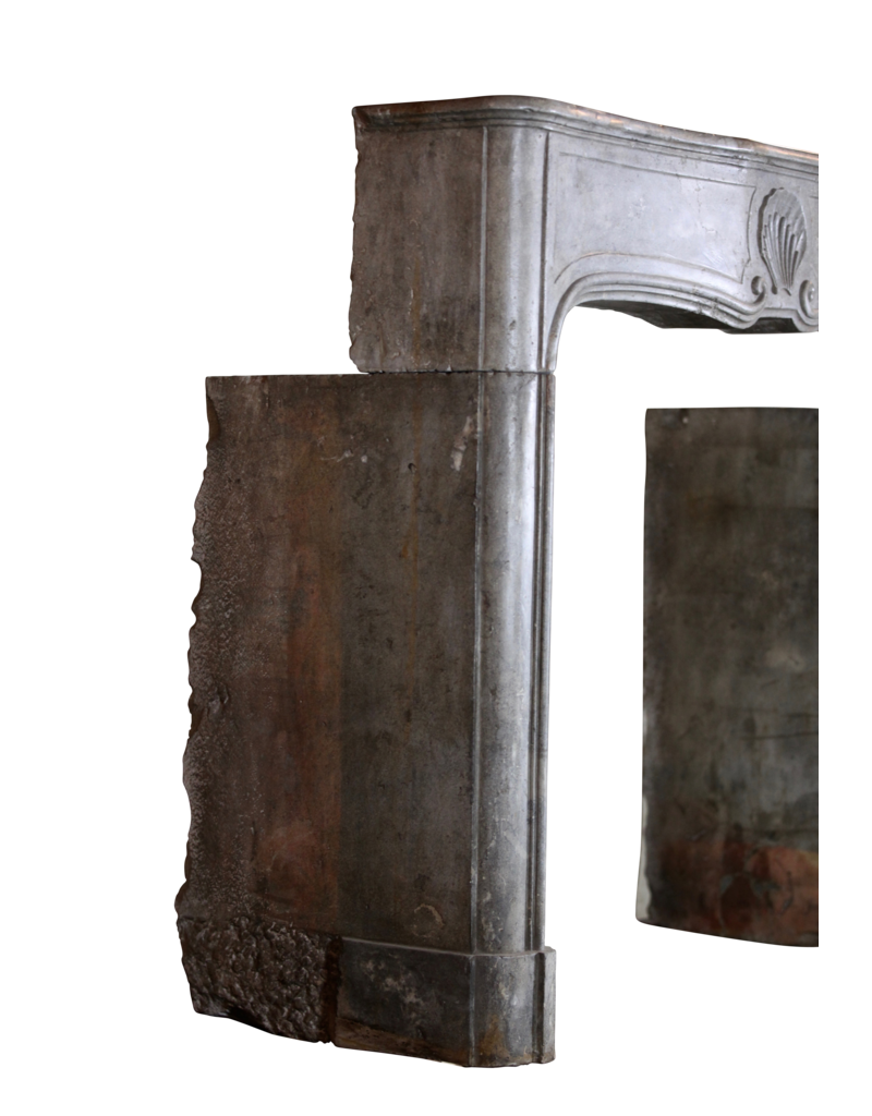 Fine Classic French Bicolor Stone Fireplace Surround