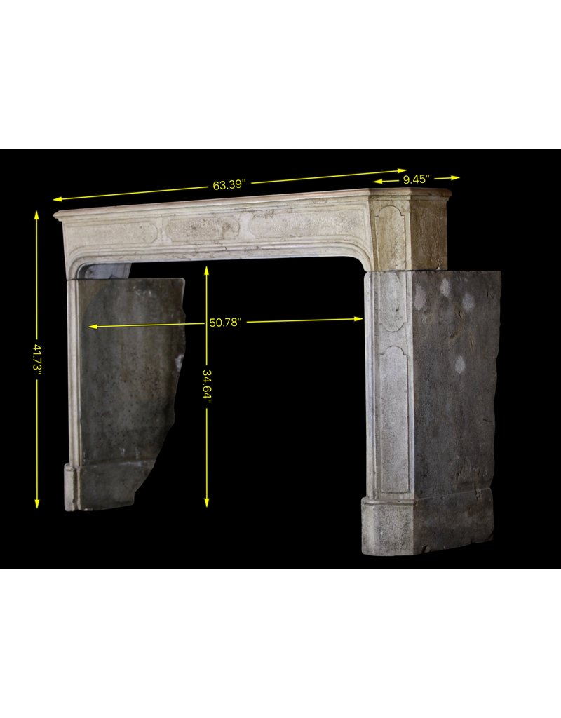 Bicolor LXIV French Antique Hard Stone Surround