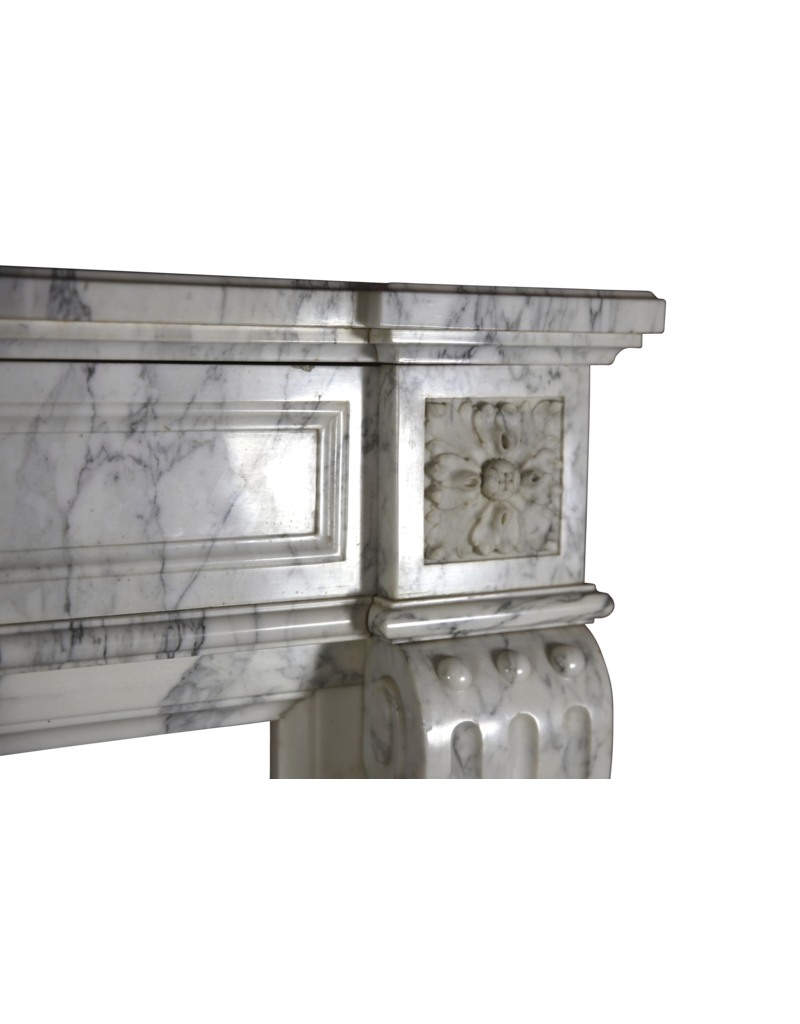 The Antique Fireplace Bank French Chique Vintage Marble Fireplace Surround