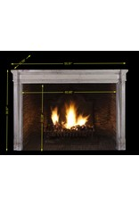 French 19Th Century Bicolor Fireplace Surround