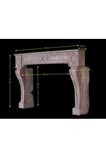 French Rustic Stone Fireplace Surround