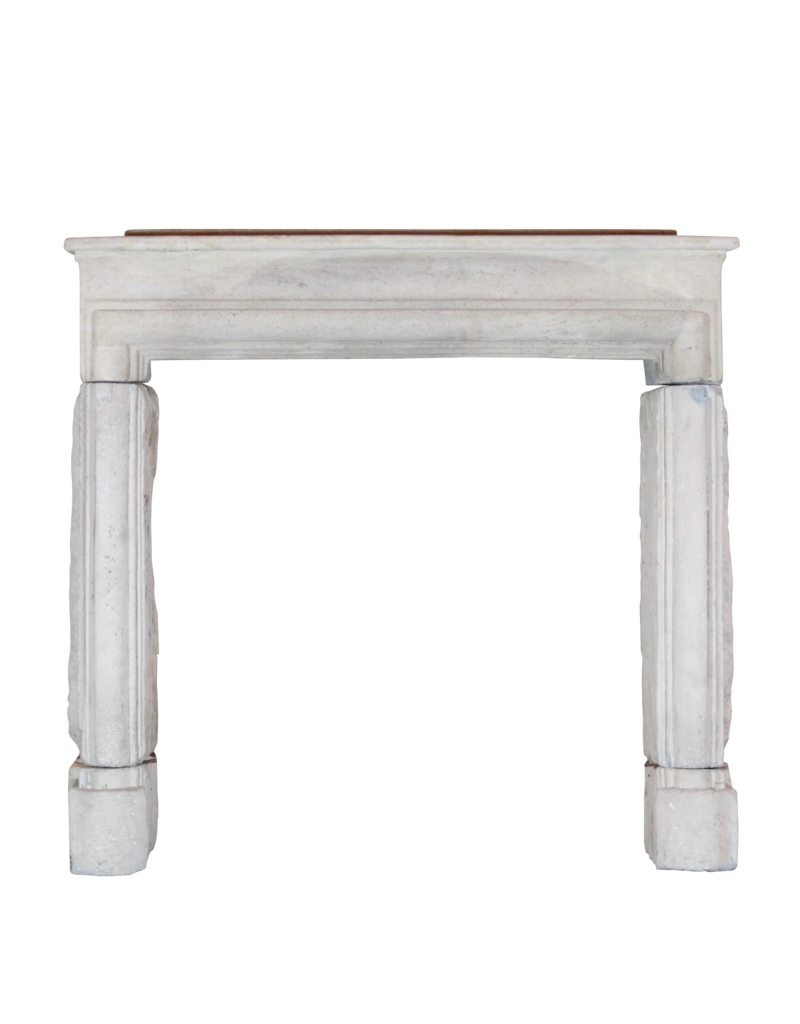 French Country Style Limestone Vintage Fireplace Surround