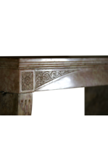 French Burgundy Antique Fireplace Surround