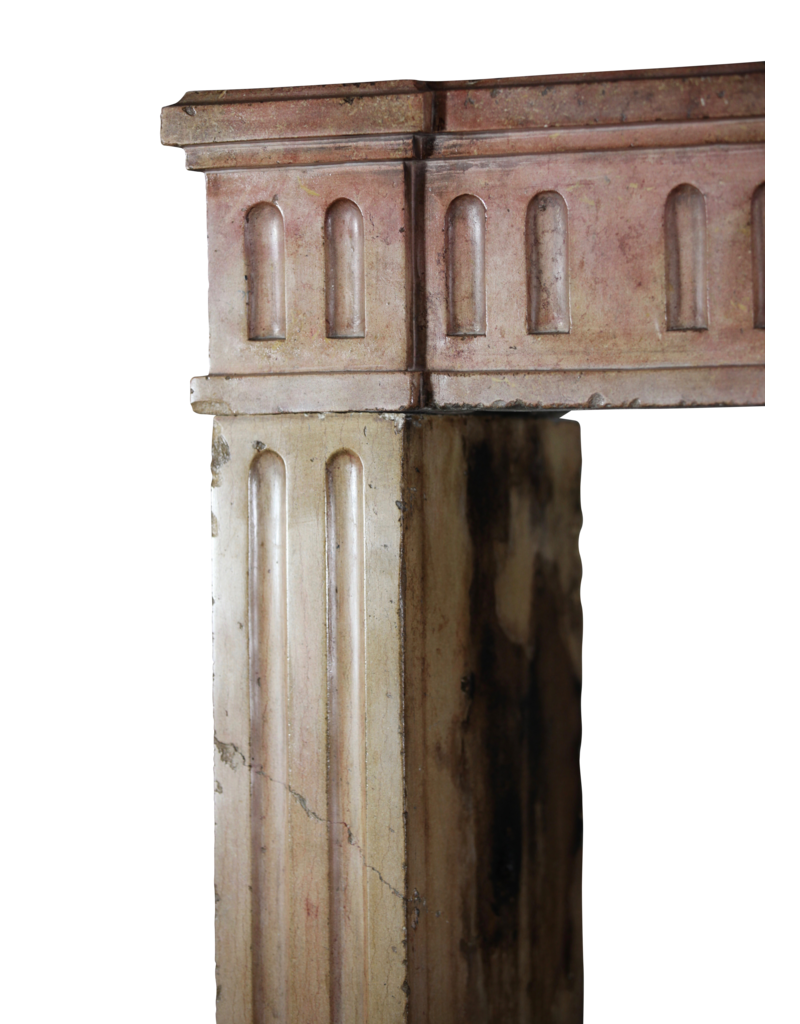 The Antique Fireplace Bank Classic French Bicolor Limestone Fireplace Surround