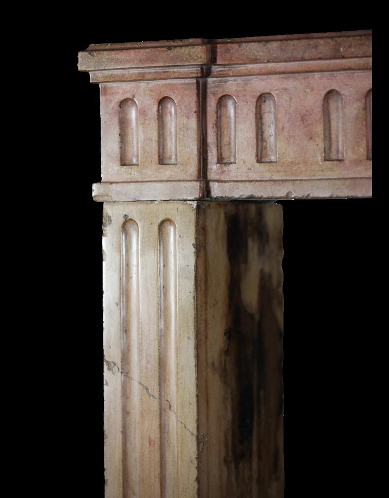 The Antique Fireplace Bank Klassische Französisch Zweifarbig Kalkstein Kaminmaske