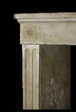 Klassische Weinlese-Französisch Kalkstein Kamin Verkleidung