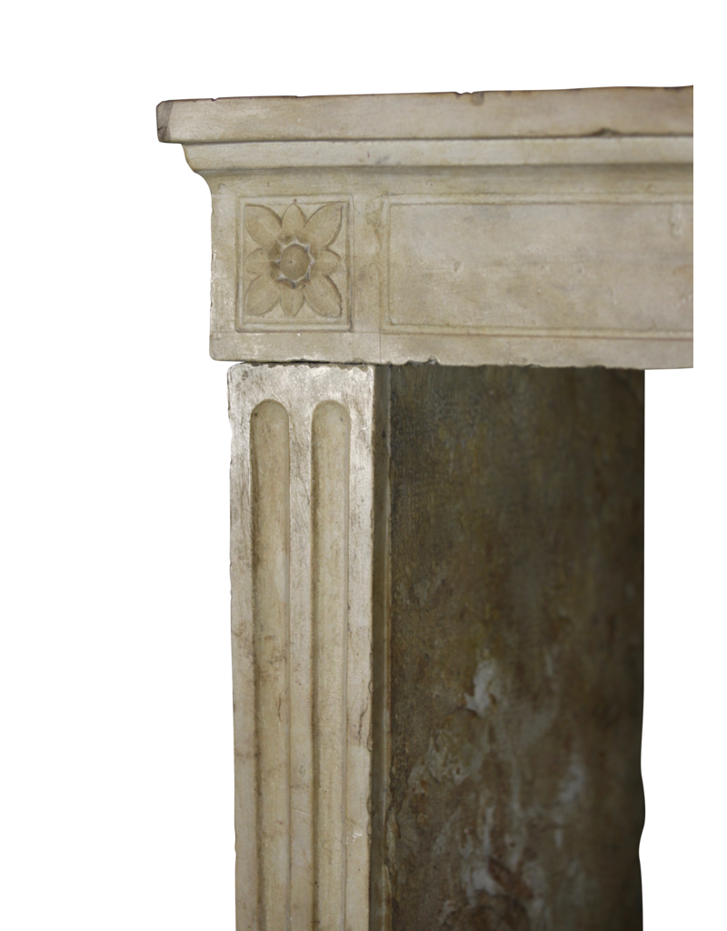 Classic Vintage French Limestone Fireplace Mantle