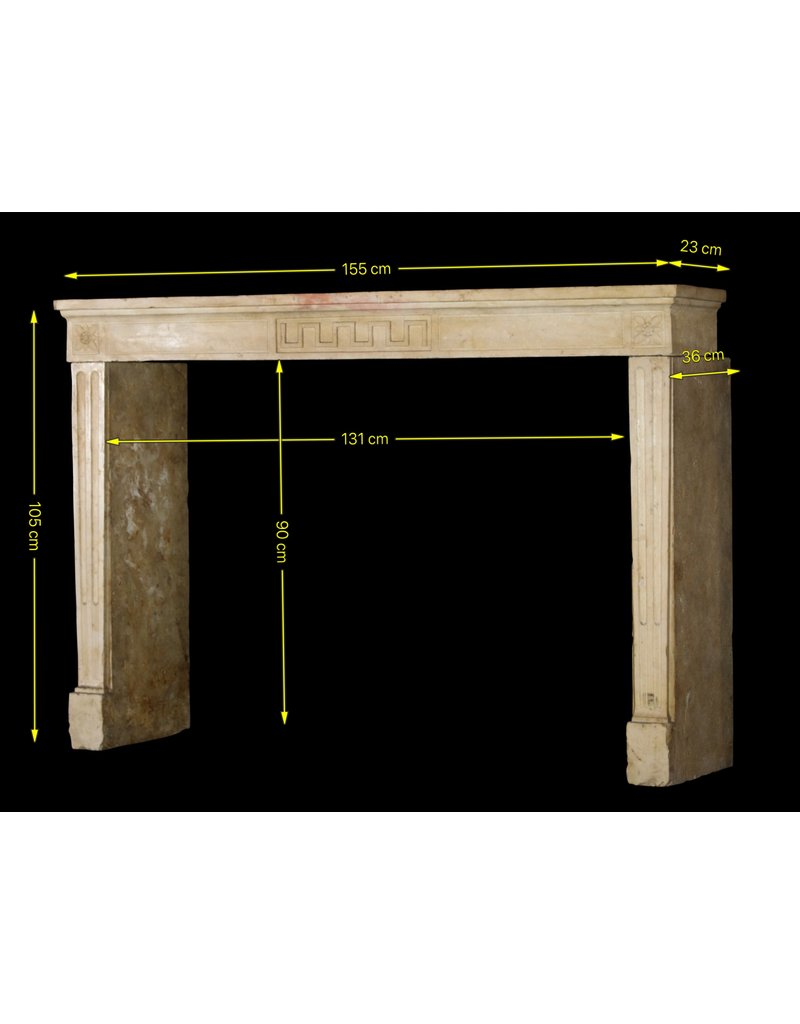 The Antique Fireplace Bank Classic Vintage French Limestone Fireplace Mantle