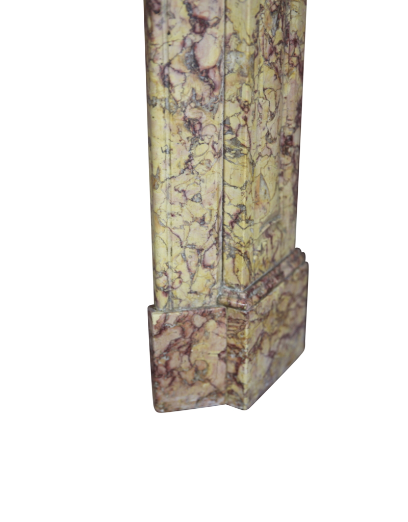 Colour Full French Classic Pompadour Marble Chimney Piece
