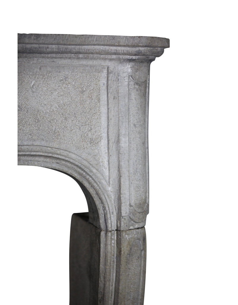 Chique French Antique Limestone Fireplace Surround