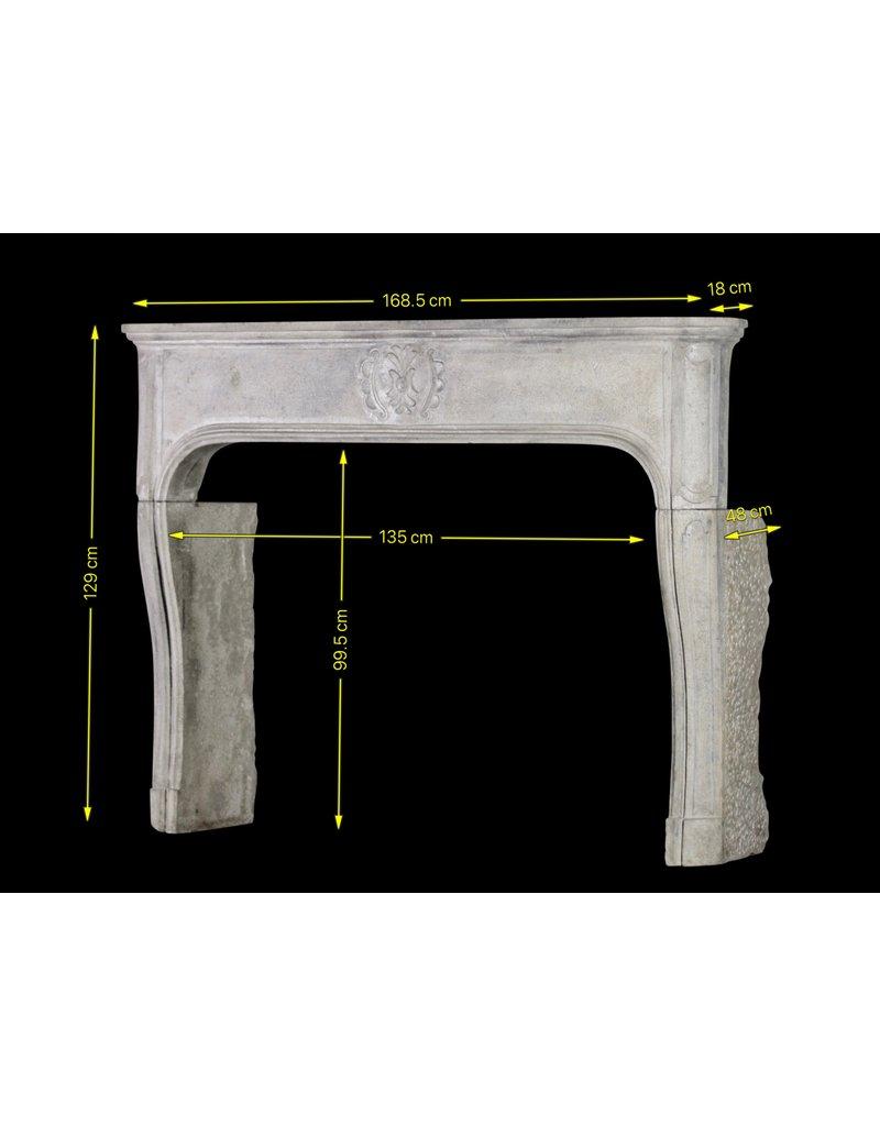Chique Französisch Antike Kalkstein Kaminmaske