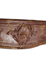 Classic Bicolor 18Th Century French Vintage Fireplace Surround