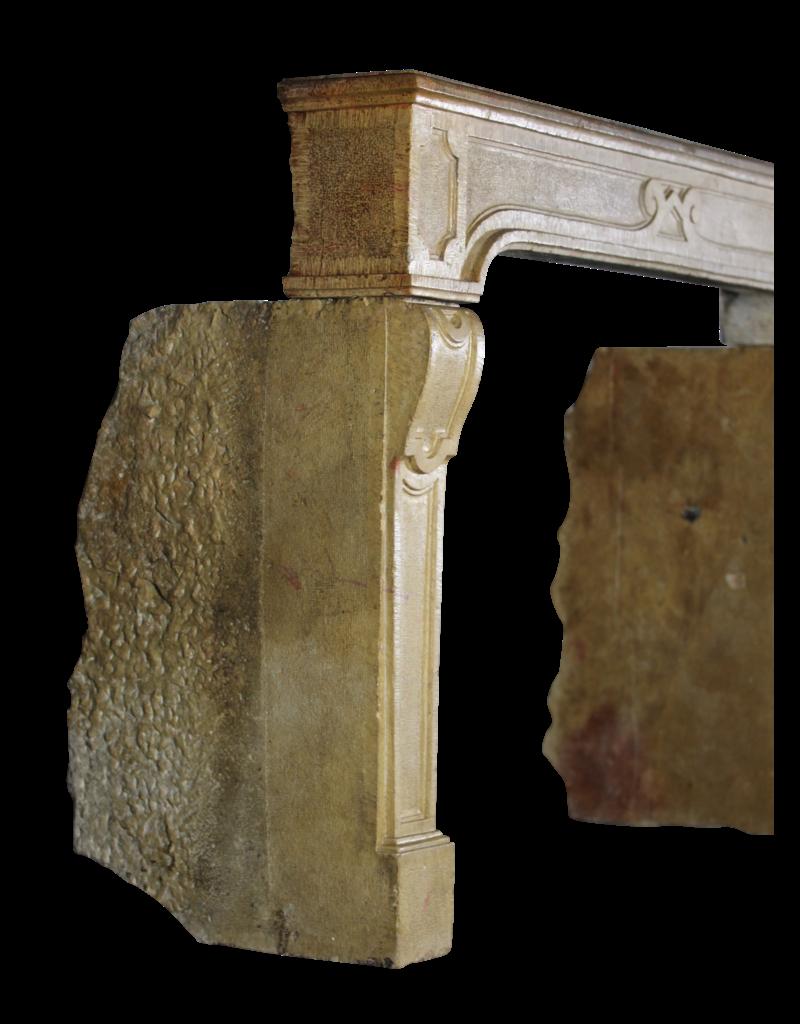Fine Clásico Francés Antiguo Chimenea De Piedra Surround