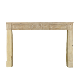 French Rustic Limestone Fireplace Mantle