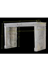 Grand French Bicolor Vintage Fireplace Surround