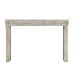Rustic French Limestone Fireplace Mantle