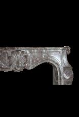 The Antique Fireplace Bank 19. Jahrhundert Klassische Belgische Marmor Kaminmaske