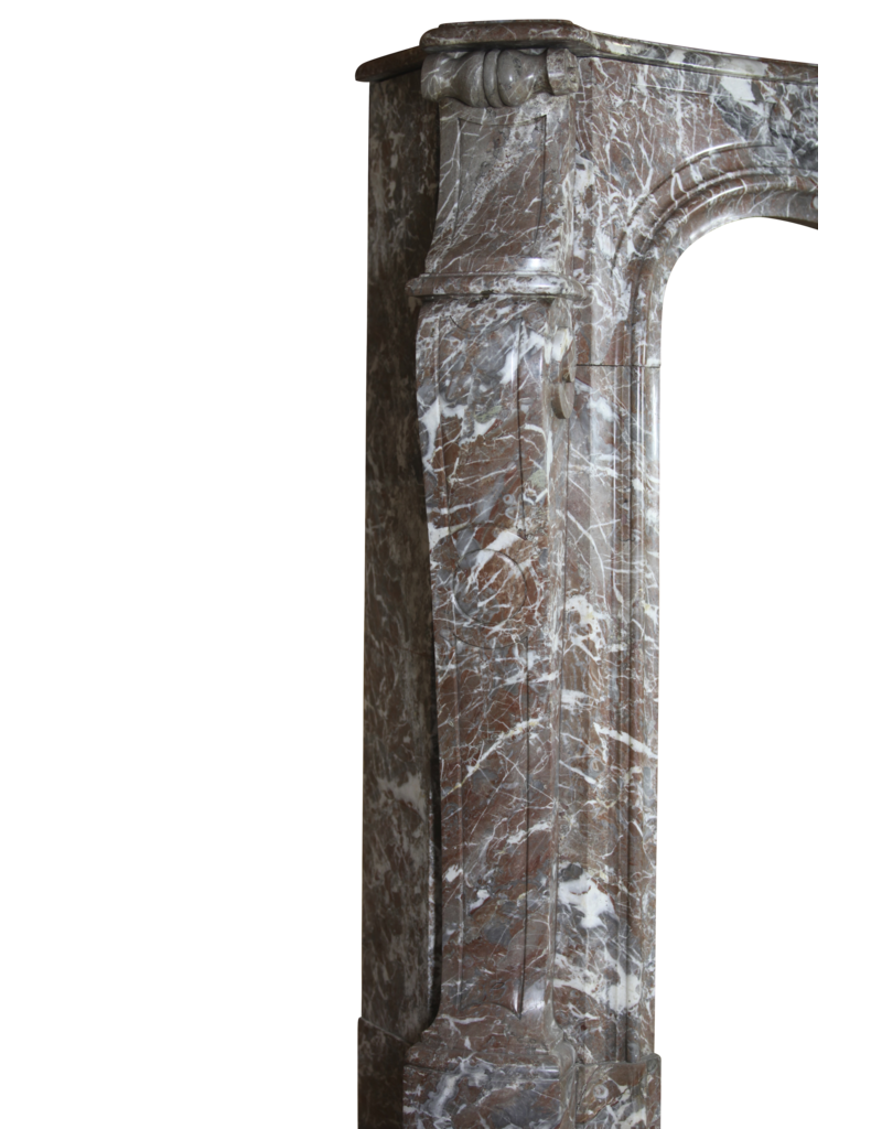 19Th Century Classic Belgian Marble Fireplace Surround