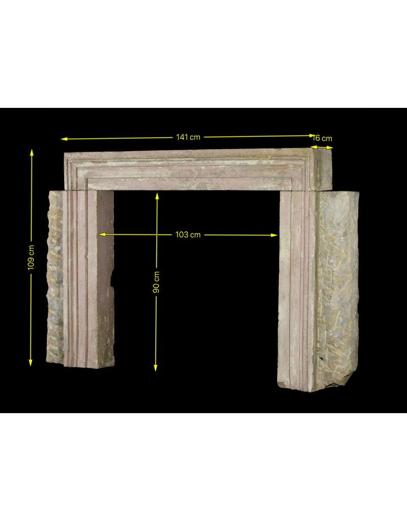 The Antique Fireplace Bank Bolection Rustic Fireplace Surround
