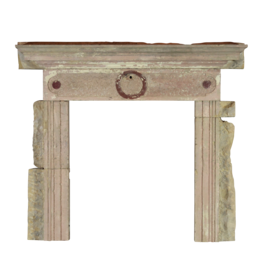 Rustic Antique Reclaimed Limestone Fireplace Surround