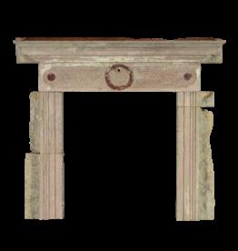 Rustikal Antike Reclaimed Kalkstein Kaminmaske