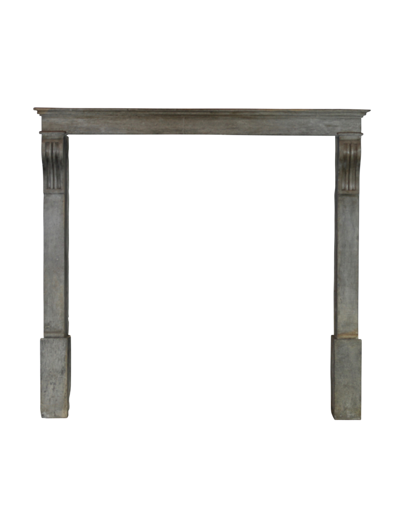 High French Bicolor Fireplace Mantle
