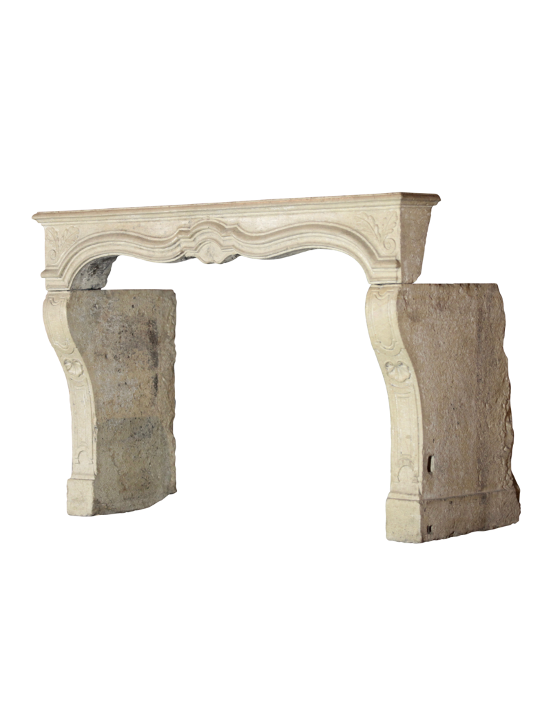 18Th Century Fine French Fireplace Surround In Limestone