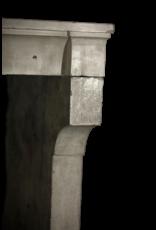 Amplia De La Vendimia Francesa Piedra Caliza Chimenea Surround