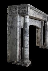 19. Jahrhundert Grau Marmor Kaminmaske