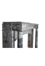 19Th Century Grey Marble Fireplace Surround