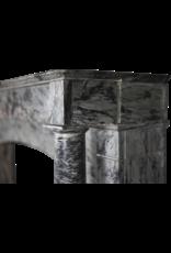 Maison Leon Van den Bogaert Antique Fireplaces & Vintage Architectural Elements 19. Jahrhundert Grau Marmor Kaminmaske