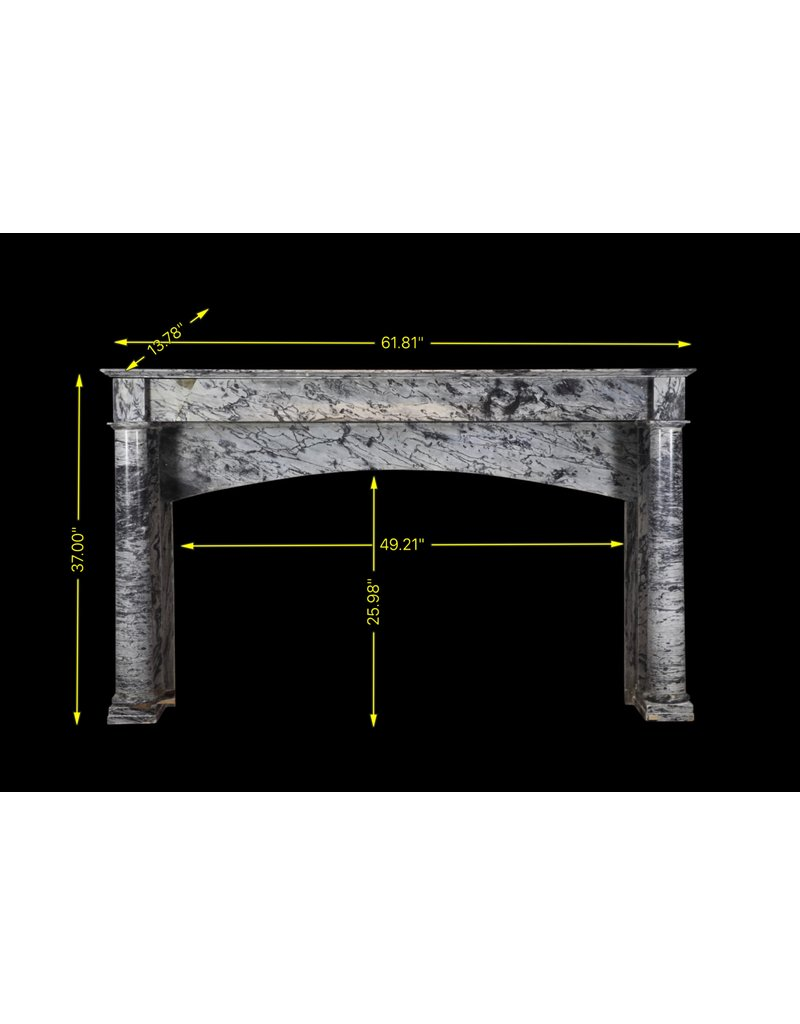 The Antique Fireplace Bank 19Th Century Grey Marble Fireplace Surround