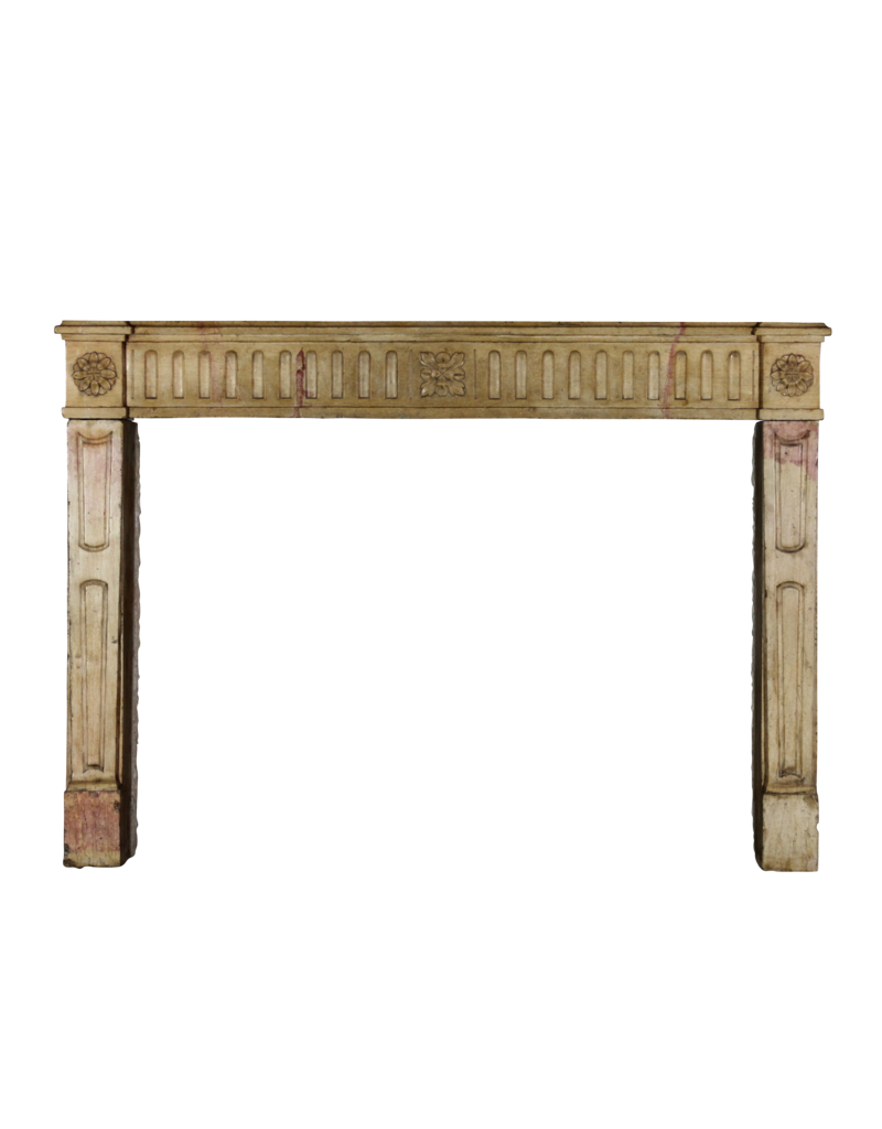 French Bicolor Vintage Fireplace Mantle