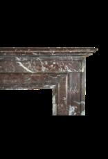 Belgian Vintage Brown Marble Fireplace Surround