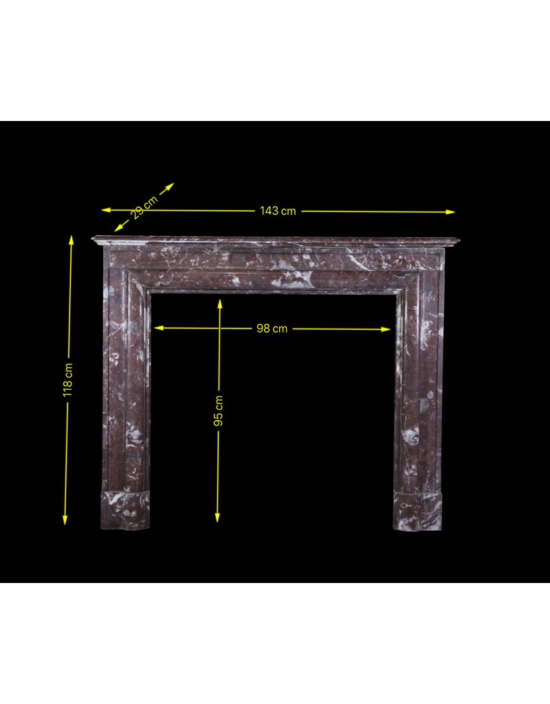 The Antique Fireplace Bank Belgian Vintage Brown Marble Fireplace Surround
