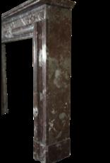 Belgischen Vintage Brown Marmor Kaminmaske