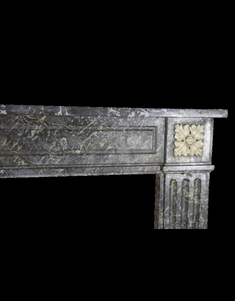 The Antique Fireplace Bank 18. Jahrhundert Gris St-Anne Marmor Jahrgang Kaminmaske