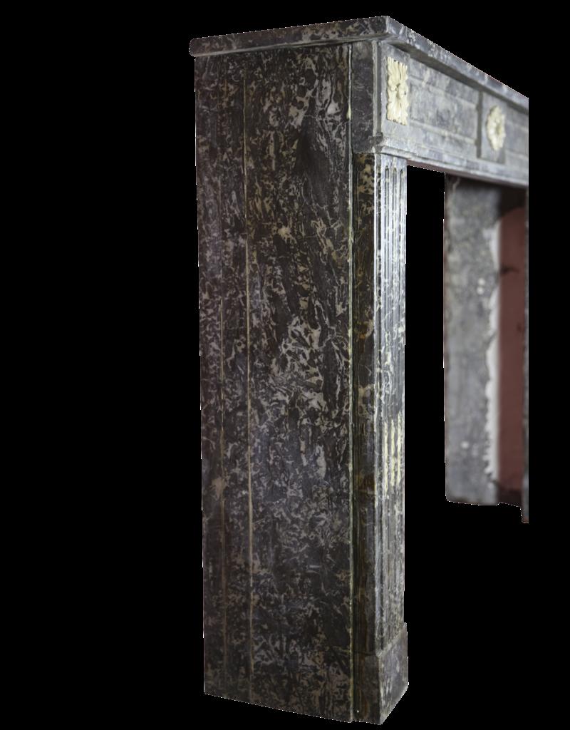Maison Leon Van den Bogaert Antique Fireplaces & Vintage Architectural Elements 18. Jahrhundert Gris St-Anne Marmor Jahrgang Kaminmaske