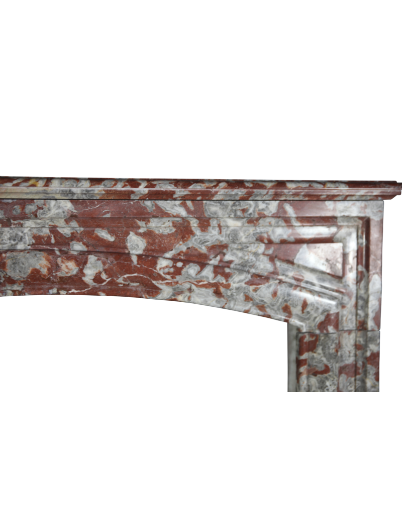 French Chique Red Languedoc Fireplace Surround